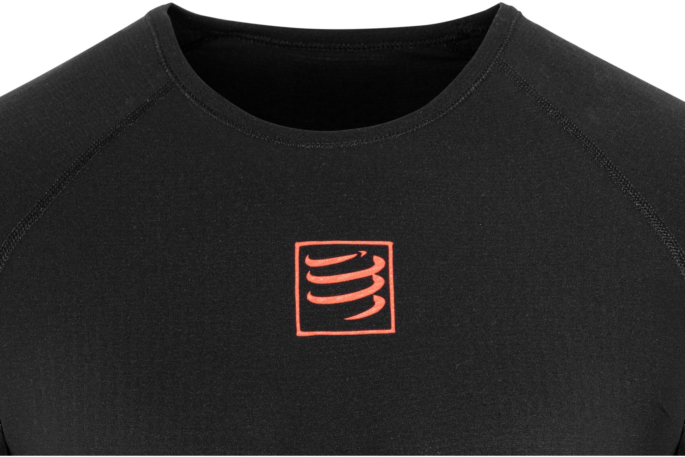 Compressport 3D Thermo UltraLight Maglietta corsa maniche lunghe nero 614f2e4d297b